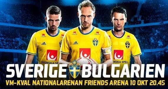 VM kval reklambild Sverige mot Bulgarien